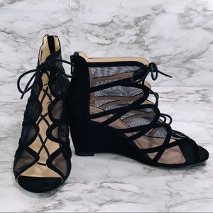 Torrid Heeled Lace Up Wedges Size 11 NWT
